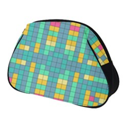 Checkerboard Squares Abstract Full Print Accessory Pouch (small)