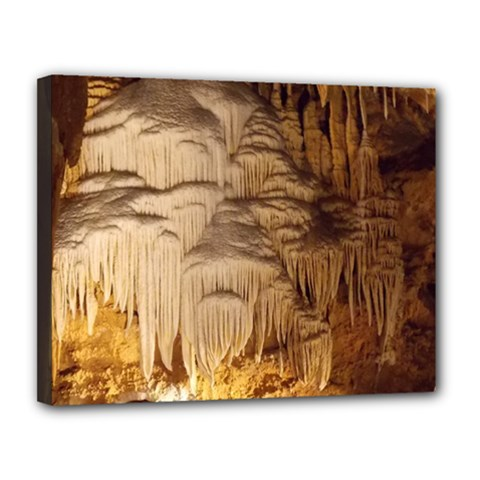 Caverns Rock Formation Cave Rock Canvas 14  X 11  (stretched)