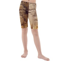 Caverns Rock Formation Cave Rock Kids  Mid Length Swim Shorts