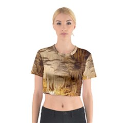 Caverns Rock Formation Cave Rock Cotton Crop Top