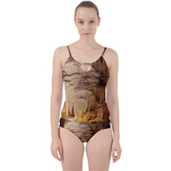 Caverns Rock Formation Cave Rock Cut Out Top Tankini Set