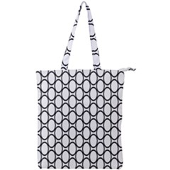 Black Pattern Halftone Wallpaper Double Zip Up Tote Bag