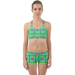 Checkerboard Squares Abstract Back Web Gym Set