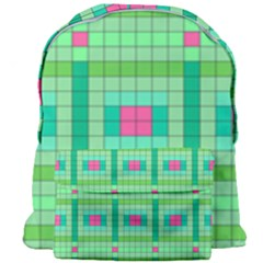 Checkerboard Squares Abstract Giant Full Print Backpack