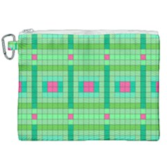 Checkerboard Squares Abstract Canvas Cosmetic Bag (xxl)