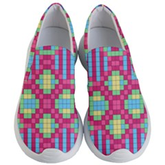 Checkerboard Squares Abstract Women s Lightweight Slip Ons by Pakrebo