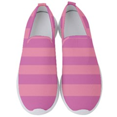 Pink Stripes Striped Design Pattern Men s Slip On Sneakers