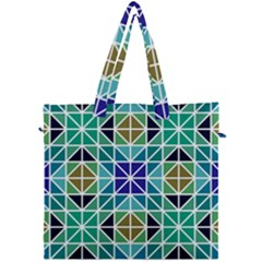 Mosaic Triangle Symmetry Canvas Travel Bag by Pakrebo