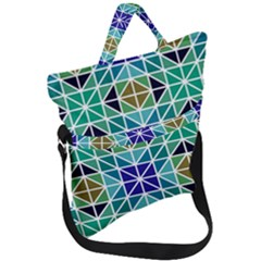 Mosaic Triangle Symmetry Fold Over Handle Tote Bag