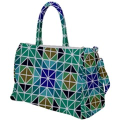 Mosaic Triangle Symmetry Duffel Travel Bag by Pakrebo