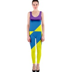 Colorful Red Yellow Blue Purple One Piece Catsuit by Pakrebo