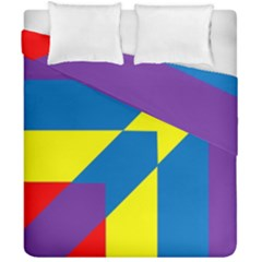 Colorful Red Yellow Blue Purple Duvet Cover Double Side (california King Size)