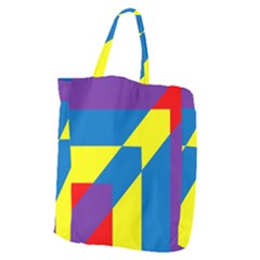 Colorful Red Yellow Blue Purple Giant Grocery Tote