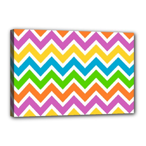 Chevron Pattern Design Texture Canvas 18  X 12  (stretched) by Pakrebo