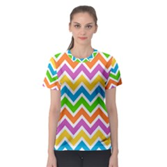 Chevron Pattern Design Texture Women s Sport Mesh Tee by Pakrebo