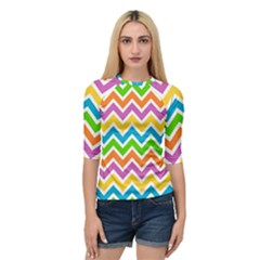 Chevron Pattern Design Texture Quarter Sleeve Raglan Tee by Pakrebo