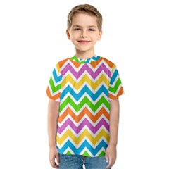 Chevron Pattern Design Texture Kids  Sport Mesh Tee by Pakrebo