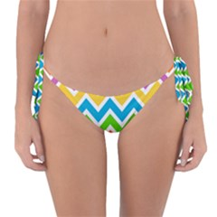 Chevron Pattern Design Texture Reversible Bikini Bottom by Pakrebo