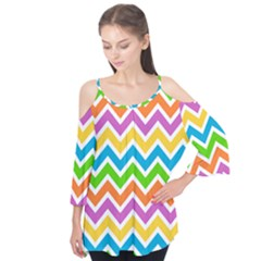 Chevron Pattern Design Texture Flutter Tees by Pakrebo