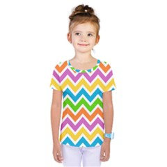 Chevron Pattern Design Texture Kids  One Piece Tee by Pakrebo