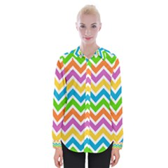 Chevron Pattern Design Texture Womens Long Sleeve Shirt by Pakrebo