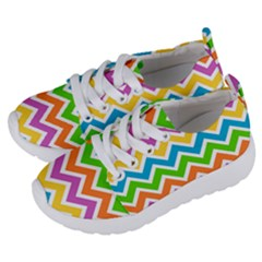 Chevron Pattern Design Texture Kids  Lightweight Sports Shoes by Pakrebo