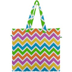 Chevron Pattern Design Texture Canvas Travel Bag by Pakrebo