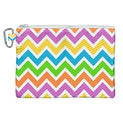 Chevron Pattern Design Texture Canvas Cosmetic Bag (xl)