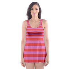 Stripes Striped Design Pattern Skater Dress Swimsuit