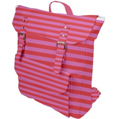 Stripes Striped Design Pattern Buckle Up Backpack by Pakrebo