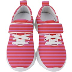 Stripes Striped Design Pattern Kids  Velcro Strap Shoes by Pakrebo
