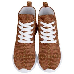 Mosaic Triangle Symmetry Women s Lightweight High Top Sneakers by Pakrebo