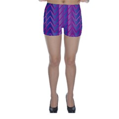 Geometric Background Abstract Skinny Shorts