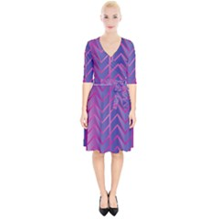 Geometric Background Abstract Wrap Up Cocktail Dress