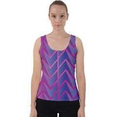 Geometric Background Abstract Velvet Tank Top