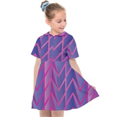 Geometric Background Abstract Kids  Sailor Dress by Pakrebo