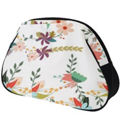 Floral Backdrop Pattern Flower Full Print Accessory Pouch (big)