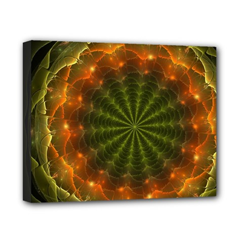 Fractal Digital Canvas 10  X 8  (stretched)