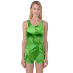 Mosaic Tile Geometrical Abstract One Piece Boyleg Swimsuit by Pakrebo