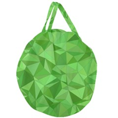 Mosaic Tile Geometrical Abstract Giant Round Zipper Tote by Pakrebo