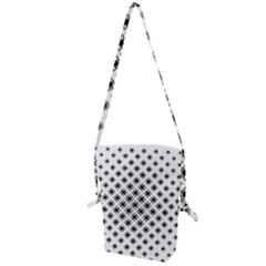 Stylized Flower Floral Pattern Folding Shoulder Bag