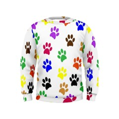 Pawprints Paw Prints Paw Animal Kids  Sweatshirt