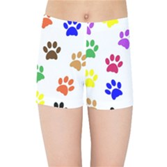Pawprints Paw Prints Paw Animal Kids  Sports Shorts by Pakrebo