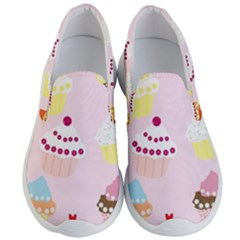 Cupcakes Wallpaper Paper Background Men s Lightweight Slip Ons