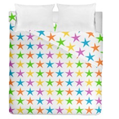 Star Pattern Design Decoration Duvet Cover Double Side (queen Size)
