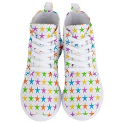 Star Pattern Design Decoration Women s Lightweight High Top Sneakers by Pakrebo
