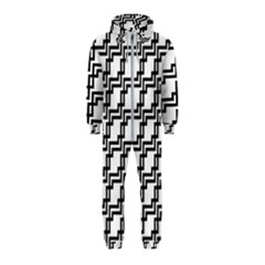 Pattern Monochrome Repeat Hooded Jumpsuit (kids)