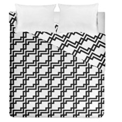 Pattern Monochrome Repeat Duvet Cover Double Side (queen Size)