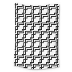 Pattern Monochrome Repeat Large Tapestry by Pakrebo