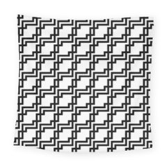 Pattern Monochrome Repeat Square Tapestry (large) by Pakrebo